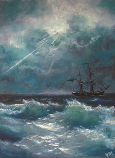 This is original 4x 5 1/2 oil on board I painted recently(2011), that represents inspirational and dreaming view of the stormy sea. I use artist oils and brush to create this unique painting .It is the 1/8 Gessoed natural fiber artist board unframed painting, with painted sides. The painting is titled, dated and signed on the back by the artist(me)