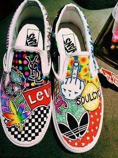 Pin by daniëlle greyling on kicks shoes, custom shoes, vans Customised Vans, Custom Vans Shoes, Custom Painted Shoes, Painted Vans, Painted Sneakers, Hand Painted Shoes, Vans Customisées, Tenis Vans, Vans Men