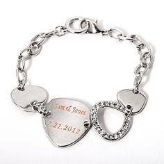 Personalized Silver Chain Bracelet – USD $ 9.49