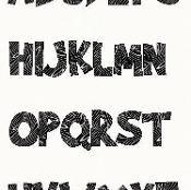 Alphabet Brady Bunch  4 inch Stencil.  - via @Craftsy