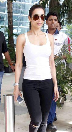 Malaika Arora Khan at Mumbai airport while returning from #IIFAAwards2015