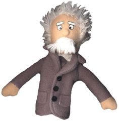Einstein -- Magnetic Personalities Finger Puppet and Fridge Magnet.