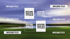Unfolding Titles it is the perfect Adobe Premiere template to add on your video elegant and simple text or logo with cool unfolding effect. This simple and well organized template that features 4k and full HD versions, 10 differents titles with 2 different unfold effects, and it can easily be customized in just a few clicks. Change text size of rectangles and render your next cool video.
