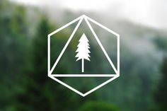 For the truck: DECAL Geometric Tree Vinyl Decal Car Window Decal by TreeAndArrow