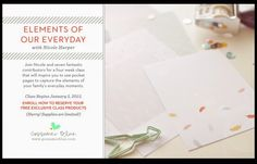 ENROLLING NOW: Elements of Our Everyday...a new class at Gossamer Blue.