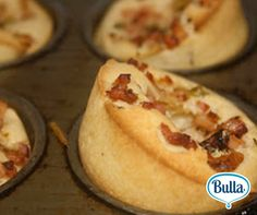 Bacon and Thyme Popovers #Bulla #BullaFamilyDairy #Recipe #FamilyIdeas #KidsFun #SavourySnack