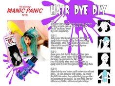 DIY dye your hair fun colors :)
