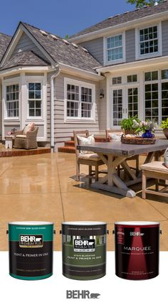 Looking to update your outdoor entertaining space in time for the spring and summer weather? Let Behr Paint help you get started. With an array of exterior home paints and primers to choose from, Behr Paint can help turn your next DIY home improvement project into a success. Click below to learn more.
