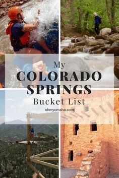Meine Colorado Springs Bucket List - Oh mein Gott! Omaha - My Colorado Springs Bucket List – Oh My! Omaha Meine Colorado Springs Bucket List – Oh mein Gott! Denver Colorado, Pueblo Colorado, Estes Park Colorado, Aspen Colorado, Manitou Springs Colorado, Road Trip To Colorado, Visit Colorado, Colorado Hiking, Colorado Mountains