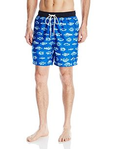 aceb8f0427 Introducing Nautica Mens Quick Dry Fish Print Swim Trunk Sea Cobalt Large.  Great Product and follow us to get more updates!