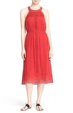 Joie 'Dance' Cotton Lace Midi Dress