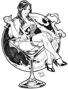 Martini girl by Carlos Gomez