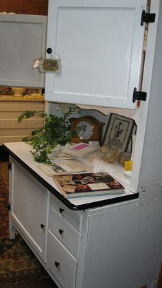 One of our items at the Corner Nest, Elizabethton, TN Vintage Kitchen Cabinets, Antique Cabinets, Old Kitchen, Rustic Kitchen, Antique Hoosier Cabinet, Sideboard Cabinet, Country Kitchens, Farmhouse Kitchens, Kitchen Queen