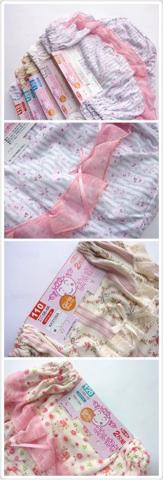 Japanese style underwear for baby girl.The color is pure and fresh