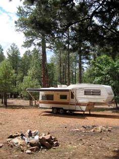 RV boondocking near Oak Creek, Arizona
