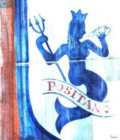 Positano Ocean Nymph - Art Print on Premium Wrapped Canvas
