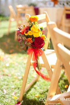 Flower Bouquet on Chair