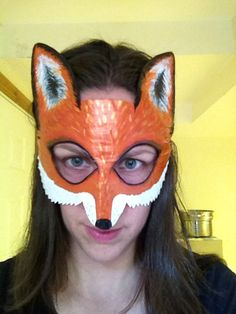 fox mask fox costume Mr. and Mrs. Fox fox and by HighMoonCreations