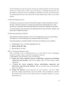 006 APA Literature Review Outline Example Professional stuff