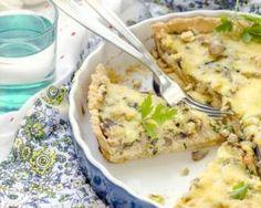 Quiche légère aux champignons et au poulet : http://www.fourchette-et-bikini.fr/recettes/recettes-minceur/quiche-legere-aux-champignons-et-au-poulet.html