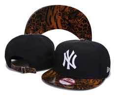 MLB New York Yankees Snapback Hats Caps Black Hats High quality snakeskin 3772! Only $8.90USD