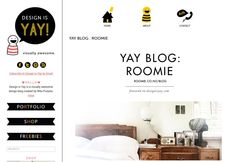 Roomie on Design is YAY Interior Design Website, Creating A Blog, Cool Designs, About Me Blog, Shopping