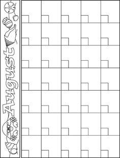 preschool calendar templates