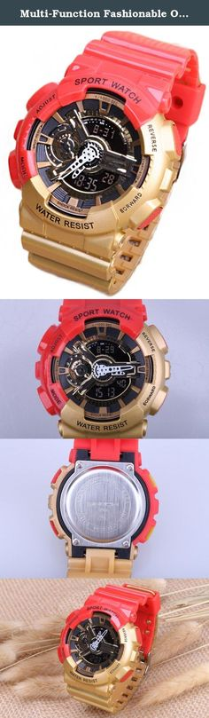 Multi-Function Fashionable Outdoor Waterproof Sport Kids Watch For Boys Girls Wrist Watches Red+Gold. 100% New high quality Gender:For Boys and Girls Watch Model: Sport Watches Clasp: Buckle Fit Wrist: 5.12-9.15inches Multi-function with calendar and Noctilucent, Date, Week Display. Alarm Function, Shock Resistant, Water Resistant, Chronograph User selectable 12/24-hour format Note: Water resistant (You can swim and take a shower with wearing it, but please don't press any keys when...