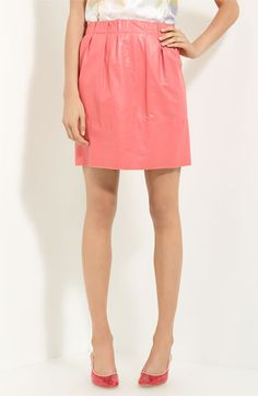 Marc Jacobs leather skirt in a punchy shade of pink.