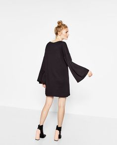 Image 5 of DRESS WITH SLEEVE FRILL from Zara