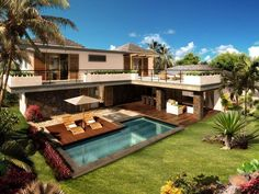 45 luxury modern house exterior design ideas – My Ideas Luxury Modern Homes, Luxury Homes Dream Houses, Modern House Plans, Modern House Design, Backyard Pool Designs, Modern Architecture House, Minecraft Architecture, Dream House Exterior, Villa Design
