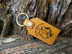 Cat lover keychain Love Pets key ring DOUBLE SIDED biker leather keyring 514 Biker Leather, Cowhide Leather, Leather Keyring, Split Ring, Love Pet, All You Need Is Love, Natural Leather, Key Rings, Cat Lovers