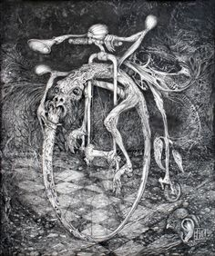 OUROBOROS PERPETUAL MOTION MACHINE, drawing by Otto Rapp