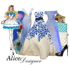 A fashion look from February 2014 featuring black stilettos, crossbody purse and blue wallet. Browse and shop related looks. Disney Themed Outfits, Movie Inspired Outfits, Disney Bound Outfits, Alice In Wonderland Outfit, How To Tie Shoes, Classic Disney Characters, Disney Style, Passion For Fashion, Cute Outfits