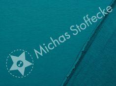 Michas Stoffecke - Stretch-Sweat Maike petrol T-SA-Maike000748