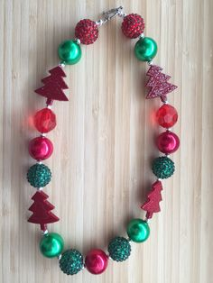 On Sale Christmas Chunky Necklace Tree by CLulusLittleLovelies