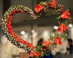 Beautiful Valentine flower heart with Anthurium as finishing touch ~ Hendrik Olivier