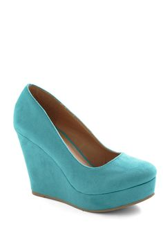 Chart Topper Wedge in Sky - Blue, Solid, Work, High, Wedge, Variation