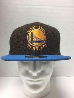 718f8ff45ba1d Golden State Warriors Mitchell   Ness Hi Crown Fitted 7 12 Flat Brim Hat  Cap NBA