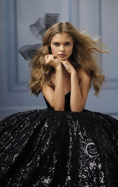 Wedding Dresses: Illustration Description Black Wedding Dress -WToo Bridal Sparkly black ball gown strapless See more gorgeous wedding dresses by clicking on the photo -Read More – Wtoo Bridal, Bridal Gowns, Black Wedding Gowns, Dress Wedding, Bridesmaid Dress, Wedding Blog, Sophisticated Bride, Beautiful Gowns, Dream Dress