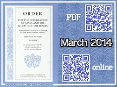 Order for the Celebration of Mass and the Liturgy of the Hours according to the Calendar of the Vincentian Family. Liturgical Year 2013-2014. Lent - March 2014 ➩ http://cmnewengland.org/worship/ordo/ #liturgy #worship #VincentiansNewEngland #Famvin