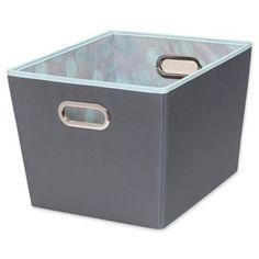 medium, Gray Faux Jute - Simplify Medium Storage Box Best Price Buy Now
