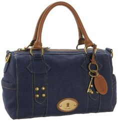 navy Fossil purse