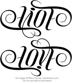 """Live"" & ""Love"" Ambigram by tiffanyharvey, via Flickr"