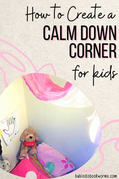 Looking for Calm Down Corner ideas? Learn how to create a calm down corner at home with these tips and resources! Teaching Emotions, Emotions Activities, Help Teaching, Teaching Mindfulness, Mindfulness For Kids, Mindfulness Activities, Best Children Books, Childrens Books, Fun Learning
