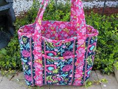 Rag Bag Pattern--would be an awesome diaper bag if bigger ... : quilted floral tote bags - Adamdwight.com