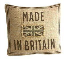 Made In Britain Hessian Cushion Cover