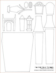 a template that you can use to make your own haunted house - Prompt for I see, I hear, I feel, I smell ...