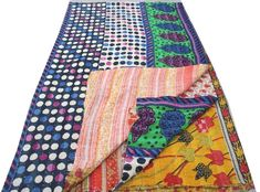 Your place to buy and sell all things handmade Kantha Quilt, Quilts, Ancient Indian Art, Kantha Stitch, Running Stitch, Hand Quilting, Sari Fabric, Rajasthan India, Bedspread