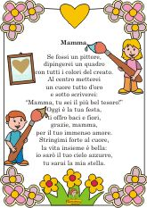 poesia per la mamma - GO Like a hair Hobbies And Crafts, Crafts For Kids, 3d Paper, Mom And Dad, Mother And Father, Fairy Tales, Montessori, Google, Primary Music